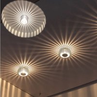 Wholesale Led Light Wall Decor - 3W LED Aluminum Ceiling Light Fixture Pendant Lamp Wall Hall Light Walkway Porch Decor Sun Flower Creative LED Wall Lamp #09