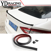 Wholesale Look Fit - 1.5M Carbon Look Universal Soft Car Spoiler Wing Exterior Rear Spoiler Kit Fits For Audi A3 A4 A5 A6 Fit Any Sedan Cars Any Yeas