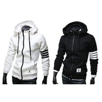 Wholesale White Hooded Cardigan Sweater - 2016 Autumn and Winter New Men's Hooded Sweater Men's Fashion Hoodies Sports and Leisure Sweater Size:S-XXL Free Shipping