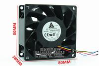 fans del servidor delta al por mayor-Venta al por mayor - Venta al por mayor de Delta TFB0812UHE - DC12V 2.34A Server Square inversor ventiladores de enfriamiento axial 80x80x38mm DES P / N 3620837511