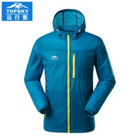 Wholesale Topsky Outdoor - Wholesale-2016 Topsky outdoor coat quick-dry skin jacket breathable hoodies men sweatshirt sun block for camping hiking city life