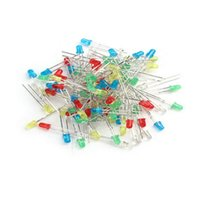 Wholesale Rectifier Diode Kit - 100pcs 3mm LED Light White Yellow Red Green Blue Assorted Kit DIY LEDs Set
