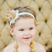 Wholesale Hair Elastics Flowers - baby girl flower princess crown headband elastics headbands for newborns hair accessories kids hair head band ornaments hairband