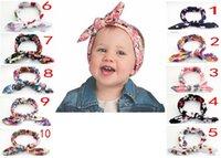 bebek düğüm kravat baş bantları toptan satış-500X Bebek elastik Bandı Düğüm Kravat Kafa Headwrap Vintage Kafa Wrap Fotoğraf Prop Sıkı Düğüm Kızlar Saç Aksesuarları 10 Renkler