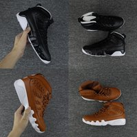 Wholesale Gloves Cream - 2018 Newest Air retro 9 Baseball Glove pack Man basketball shoes Black Brown New arrival Brand Men sport trainer Sneakers 8-13