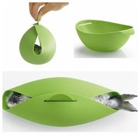 Wholesale Wholesale Fish Bowls - Silicone Fish Cooking Bowls Steam Baking Food Bowl Basket Kitchen Cooking Tools Fish Kettle Steamer Roaster Cook Tool KKA3090