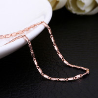 Wholesale Wholesale Free Delivery China - 50pcs 3 Colors Hot Sale Fashion Rope Chain Necklaces, Oblate Square Luxury Rope Chain mixed Color size 18 inch Fast Delivery Free Shipping