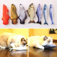 Wholesale Mouse Fishing - 7 Style Catnip Toys for Cat Simulation Fish Pet Kitten Cushion Grass Bite Chew Funny Scratch Pillow 20cm Pet's Padded Toy
