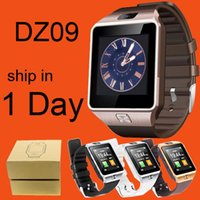 Wholesale Gps Watch Tracker Cell Phone - DZ09 Bluetooth Smart Watch With SIM Card For Apple Samsung IOS Android Cell phone 1.56 inch DHL Free OTH110