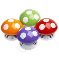 мини-пылесос для пк оптовых-Оптовая Многоцветный гриб настольный пылесос, домашний портативный мини гриб пылесос автомобиля Клавиатура ноутбука PC Desktop Dust Sweeper