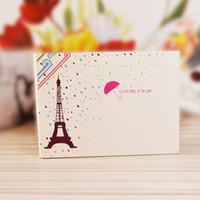 ingrosso scrapbooking angoli-Album fotografico da 10 pollici interno anello angolo scritto creativo Souvenir foto Parigi sotto la pioggia fai da te pasta Scrapbooking 9zo F R