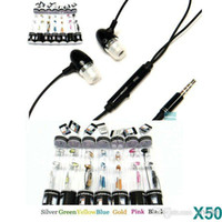 3,5 In-Ear наушники наушники Металл для Apple Iphone 4 4G 3GS 5 5g 5S 5C MIC MP4 микрофон наушники MP3 Samsung HTC Красочные JBD-ОР2