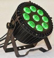 impermeabilizacion led par puede al por mayor-Luz LED impermeable plana 9x12W, luz par, 9 * 12W RGBWA 5 en 1 luz Par LED, Par LED