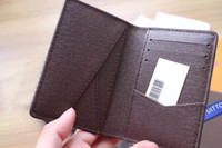 Wholesale Key Chains Stars - Free Shipping! Fashion Design Casual Credit Card ID Holder Hiqh Quality Leather Wallet 63144