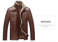 Wholesale Hand Painted Big Flowers - New arrival Men leather jackets Winter thicken Fleece PU leather jackets casual coats jaqueta de couro masculina Big Size 4XL
