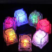 hochzeit dekor beleuchtung großhandel-LED Party Lichter Lite Würfel Multicolor leuchten LED blinkende Eiswürfel Flüssiger aktiver Sensor Nachtlichter für Party Xmas Hochzeitsdekor