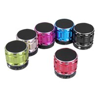 Wholesale dc mp3 player for sale - Group buy S28 DC V W Hz KHz AUX Portable Mini Bluetooth Speakers Metal Steel Wireless Smart Hands Free Speaker Support TF Card For Mobile Phone