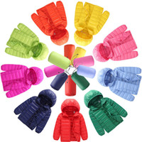 Wholesale White Childrens Coat - Childrens ultra-thin models down jacket new autumn and winter new childrens clothing Korean version of the down jacket boys and girls hood