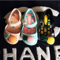 Wholesale Pineapple Patterns - Kids jelly shoes factory direct children's beach sandals girls pineapple princess shoes 2017 summer new girl sandals clogs shoes T0005