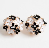 Wholesale Cloves Flower - High quality Flower Stud Earrings Clove Designer Spring pendientes Brincos for Womens 4 colors free shipping