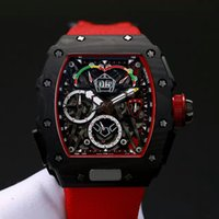 Wholesale Titanium Black Stone - 2017AAA top luxury brand men's watches new RM50-03 titanium carbon fiber material automatic machinery 43mm sports car series new release cla