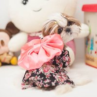 Wholesale Princess Dogs - Pet Dogs Floral Bow Dress Japanese Kimono Clothing Puppy Princess Skirts Costume