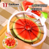 Wholesale Dice Cut - Kitchen Corer Slicer Easy Cutter Cut Fruit Knife Cutter for Watermelon Cantaloupe Splitters Stainless Steel Dicing Cutter Creative Tools