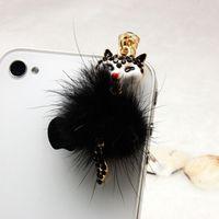 Wholesale Dust Plug Fox - Fox Earphone Jack Headset Stopper Cap Pendants 3.5mm Universal Mobile Phone Plush Dust Plug For Phone iPhone Samsung