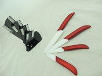 Wholesale Zirconia Knife Blade - 2016 Good Quality ABS Handle Zirconia Ceramic Material Blade Free shipping Knives Set 4 Pcs   Set