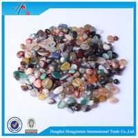 Wholesale agate sale - FREE SHIPPING Wholesale Assorted sale Tumbled stone 7-9mm Natural Crystal Mixed Agate Beads Healing reiki & good lucky energy stones