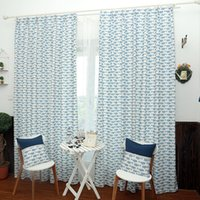 Wholesale Printed Curtain Panels - Window Drapes Polyester Cotton Curtains Printing Drapes And Curtains Pink Blue Window Treatments Roman Shades 42W 50W 72W 1 Panel Curtain