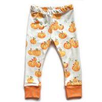 calças de bebê impressas venda por atacado-Bebê Calças de Halloween Da Criança Infantes Abóbora Impresso Outono Apertado Leggings Crianças Algodão Harlan Calças Frete Grátis