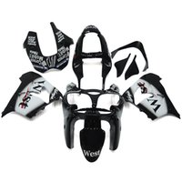 Wholesale Kawasaki West Fairings - West Black White Complete Fairings For Kawasaki ZX-9R ZX9R Year 00 01 2000 2001 Plastic ABS Motorcycle Fairing Kit Bodywork