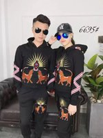 Wholesale Cheap Brand Tracksuits - Embroidery cat Winter And Autumn fall cheap Men Sportswear Brand Tracksuits Mens Casual Sports Suit Hooded Sports outwear Free Shipping