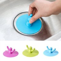 Wholesale Bathroom Sink Stoppers - Creative Cartoon Silicone Kitchen Sink Strainer Filter Bathroom gully drain Kitchen Sink Drain Cover Anti-sliding Stopper wa3990