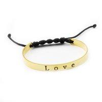 Wholesale Black Chain Link Belt - Wholesale 10Pcs lot 2017 Hot Sale Fashion Bracelets Wedding Jewelry Love Stainless Steel Bangle Black Rope Belt Charm Bracelet