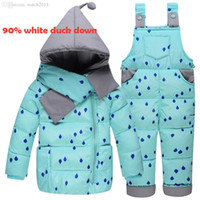 Wholesale Down Coat Overall Girl - Wholesale-2016 new 90% white duck down baby coat warm children's winter overalls for girls extra thick baby-snowsuit clothes for girls