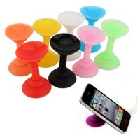 Wholesale Double Sided Suction Sucker - Wholesale-New Silicone Double Sided Suction Cup Phone Holder Sucker Stand For Cell Phones