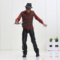 Wholesale Neca Street - Newest NECA A Nightmare on Elm Street Freddy Krueger 30th action figure Toy Collection figures robot kids toys