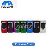 Authentische SMOK ProColor 225 Box Mod 225 Watt E Zigarette Vape Mod mit Big OLED Display Veränderbar LED-Lichtleiste 100% Original