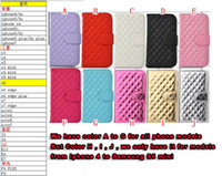 Wholesale S3 Diamond Flip Cover - Diamond Square Flip Wallet Leather Case For Samsung Galaxy S3 S4 S5 NOTE5 LG K4 K7 M1 K10 M2 Stand Bling Pouch Photo Frame TPU Card Cover