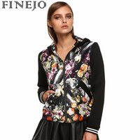 All'ingrosso- Finejo Fashion Women Sportswear Stampa floreale stampata Patchwork Fall Tracksuits Costumi casual manica lunga Giacca primavera autunno