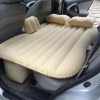 cubiertas de coche de pvc al por mayor-Top venta de asiento trasero del coche colchón de aire colchón de viaje Cama de aire colchón inflable Cama de aire inflable de la buena calidad Cama de coche inflable