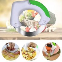 Wholesale Innovative Kitchen - The Rolling Knife Innovative Design of The Kitchen Circular Knife Sharp Blade Cutting Vegetables Meat Cake Stainless Stee YYA305