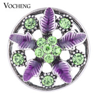 Wholesale Hollow Hook - VOCHENG NOOSA 18mm Hollow out Blossom Interchangeable Charm Jewelry Vn-1130