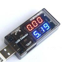 testador de usb venda por atacado-Atacado-USB Corrente de Tensão de Corrente Detector de Corrente de Energia Móvel e Voltímetro Amperímetro Tensão Carregador USB Tester Duplo Fila Mostra