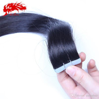 Wholesale Wholesale European Tape Hair Extensions - Tape In Human Hair Extensions 20Pcs Lot 40g pk European Human Hair Tape Hair Extensions Free Shipping Skin Weft in Natural Black #1 or #1b.
