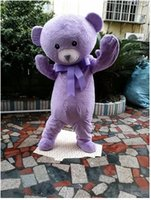 Wholesale Teddy Bear Adult Mascot Costumes - Products sell like hot cakes teddy bear mascot animal costume purple lavender mascot bear clothing adult cartoon mascot for Halloween