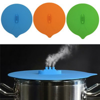 Wholesale steamed pot for sale - Originality Steam Ship Steaming Lid Silicone Steam Lid Kitchen Tools Covers for Pots Cups kitchen Accessories IA733