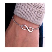 Wholesale Bracelets Ideas - Fashion Retro Jewelry Digital 8 Infinite Metal Bracelet Infinity Love Bracelet Silver Bridesmaid Gift Christmas Gifts Ideas Women Gift Ideas